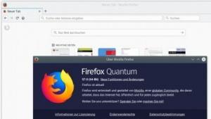 Aus Version 57 wird zur Veröffentlichung Firefox Quantum.