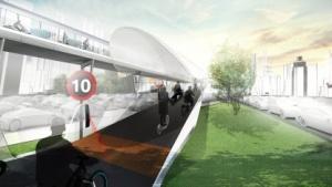 So stellt sich BMW den Fahrradverkehr der Zukunft vor.