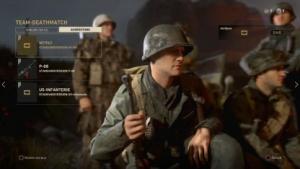 Das Multiplayer-Startmenü von Call of Duty WW2