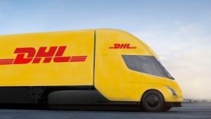 Tesla Truck in DHL-Farben
