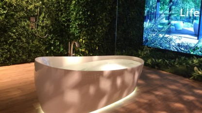 Die Badewanne entspannt angeblich besser als andere.