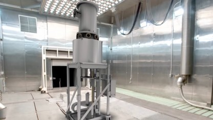 Der Kilopower-Reaktor auf dem Teststand