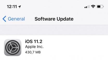 Apples neues iOS 11.2 ist da.