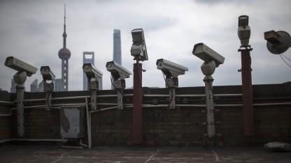 Überwachungskameras in Schanghai