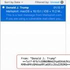 Sicherheitslücke in Mailclients: E-Mails versenden als potus@whitehouse.gov