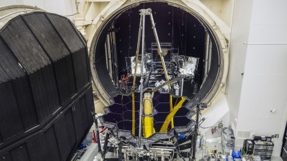 Weltraumteleskop: webb besteht tests in der kältekammer golem.de
