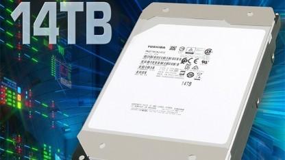 Toshiba stellt Festplatten mit 14 TByte Kapazität her.