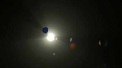 So stellt sich die Nasa das Sonnensystem von Kepler 90 vor.