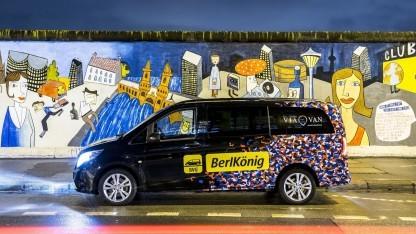 Mercedes-Van: Anstrich im BVG-Polster-Look