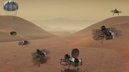 Konzept für die Titan-Mission Dragonfly:  Antworten auf einige der größten Fragen in unserem Sonnensystem