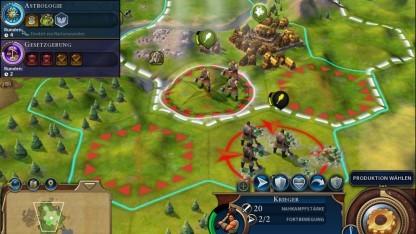 In der iPad-Version von Civilization 6 schicken wir die Krieger per Touch-Befehl in den Kampf.