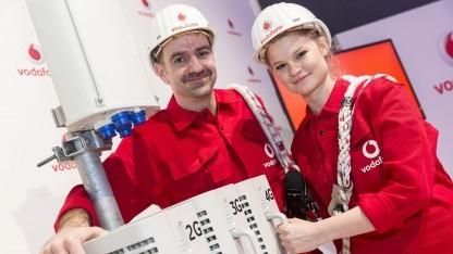 Vodafone-Techniker bei der Arbeit