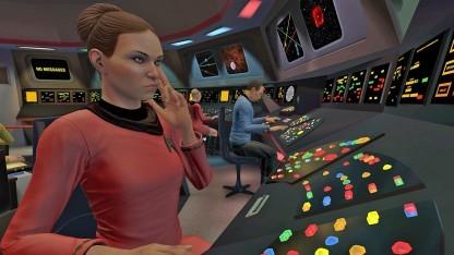 In Star Trek Bridge Crew saust der Spieler mit der Sternenflotte durchs (virtuelle) All.