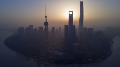 Skyline der chinesischen Wirtschaftsmetropole Shanghai