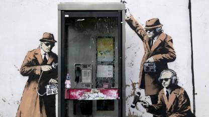 Banksy-Kunstwerk in Cheltenham, England