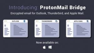 Protonmail Bridge funktioniert mit IMAP-fähigen Clients.