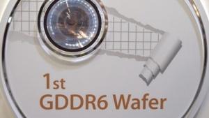 Wafer mit GDDR6-Chips von SK Hynix