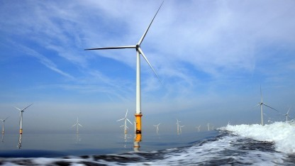 Windpark in der Nordsee bei Liverpool