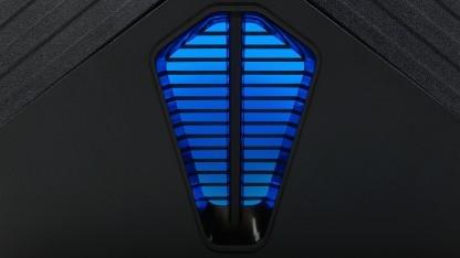 Der Gaming-PC ist mit blauen LEDs ausgestattet.