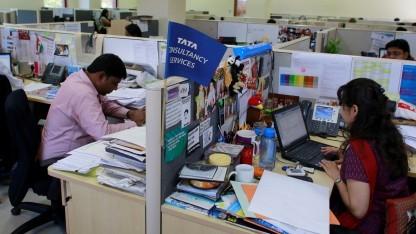Beschäftigte bei Tata Consultancy Services im März 2013