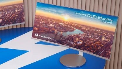 Samsungs Monitor schafft es, auch leistungsfähige Notebooks mit Energie zu versorgen.