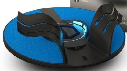 Die neuen Fußschlaufen des 3D Rudder erinnern uns aus der Nähe an Adiletten.