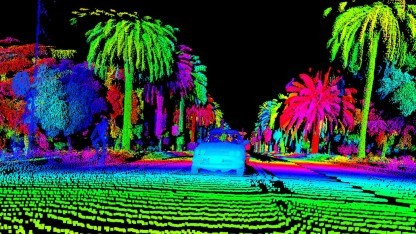 Einzelbild vom Luminar Lidar