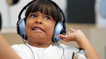 Minderjährige im Apple Store von San Francisco.