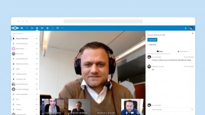 Nextcloud Talk in Aktion.