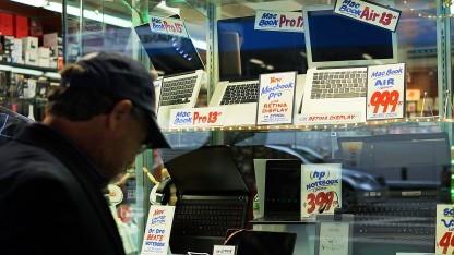 Angebote in einem Computer-Shop in New York