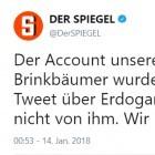 Türkei: Twitter-Account des Spiegel-Chefs gehackt