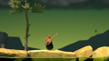 Hauptfigur in Getting Over It with Bennett Foddy ist der Mann im Faß.