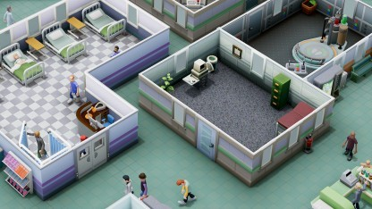 Die Grafik von Two Point Hospital erinnert deutlich an Theme Hospital.