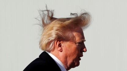 US-Präsident Donald Trump mit deregulierter Frisur