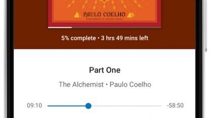 Die Hörbücher werden in der Play-Bücher-App abgespielt.