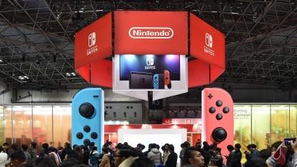 Nintendo Switch auf einer Spielemesse