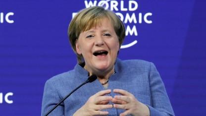 Bundeskanzlerin Angela Merkel (CDU) auf dem Weltwirtschaftsforum in Davos