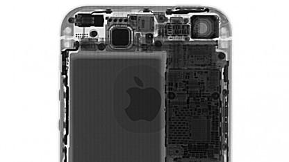 Röntgenaufnahme eines iPhone SE