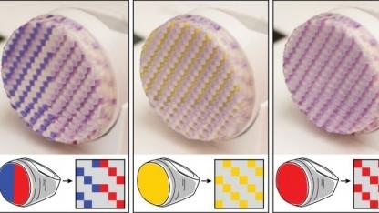 Colorfab: Der Nutzer steuert, welche Bereiche des Objekts mit UV-Licht bestrahlt werden.