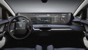 Elektroauto von Byton: Display über die ganze Fahrzeugbreite