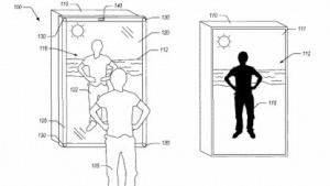 Eine Zeichnung des Spiegels aus Amazons Patentschrift