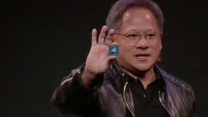 Nvidia-Chef Jensen Huang mit dem Xavier-SoC