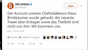 Der Twitter-Account des Spiegel-Chefs wurde gehackt.