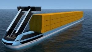 Elektroschiff von Port-Liner: Akku im 20-Fuß-Container