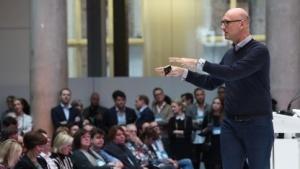 Timotheus Höttges auf der Internetkonferenz DLD in München