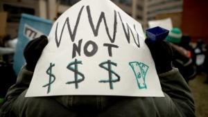 Proteste gegen die Abschaffung der Netzneutralität in den USA