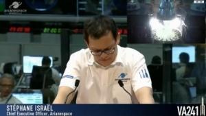Arianespace-CEO Stéphane Israël gab eine Stunde nach dem Start die Fehlfunktion bekannt.