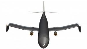 Experimentelles Flugzeug Ptera mit verformbaren Tragflächen: Material nimmt eine neue Form an.