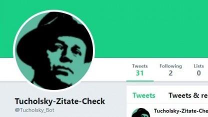 Rüffelt Tweets mit falschen Zitaten: der Tucholsky-Zitate-Check