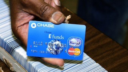 Eine Kreditkarte von JP Morgan Chase